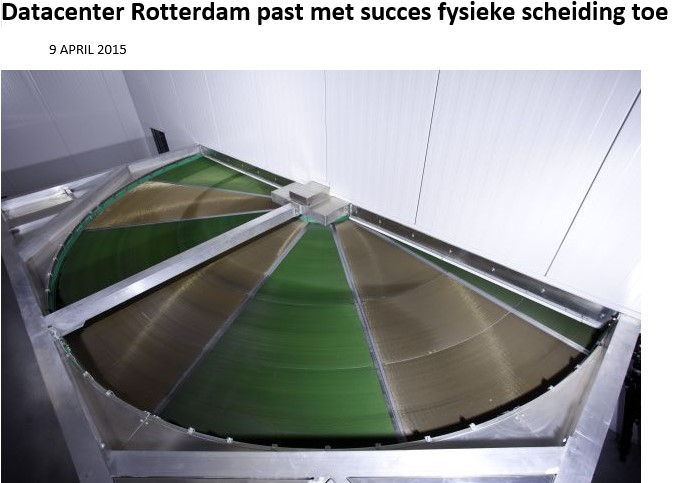 Datacenter Rotterdam successfully applies physical separation Image