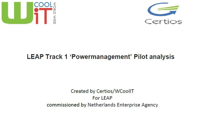 Report LEAP Powermanagement Pilot analysis Image